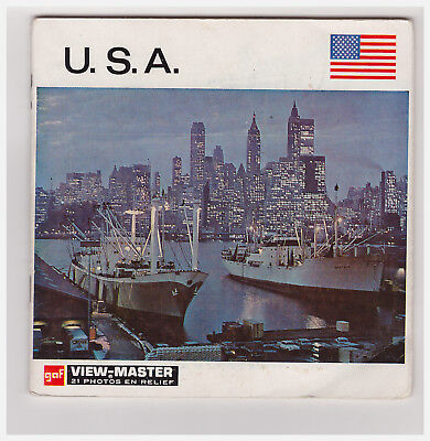 View Master   U.s.a.     A  997     In Francese   A Libretto   Nations Du Monde