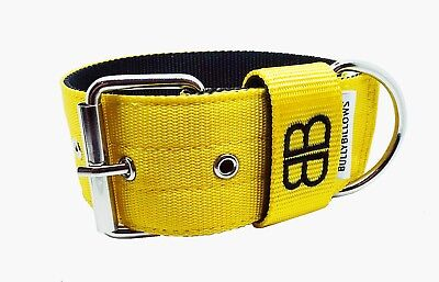 5cm Strong Nylon Dog Collar Large Breeds - 5 Beautiful Colours - Neoprene Lined