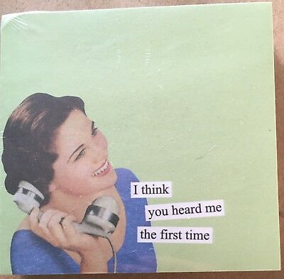 """ANNE TAINTOR 73432 """"Heard Me"""" Sticky Notes New Funny Office Gag Gift"""