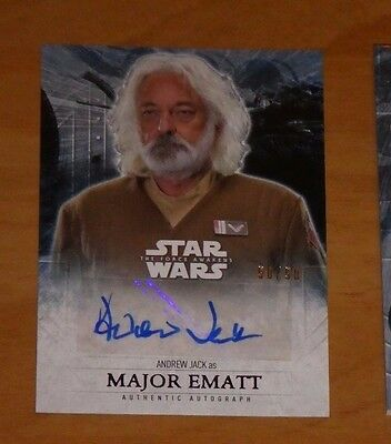 Topps STAR WARS Force Awakens Serie 2 Card Autograph ANDREW JACK 50/50 Carte