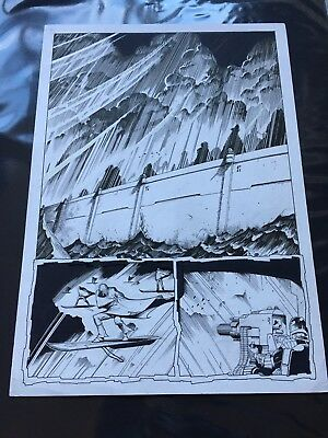 Judge Dredd Original Comic Art Greg Staples 2000 A.D.