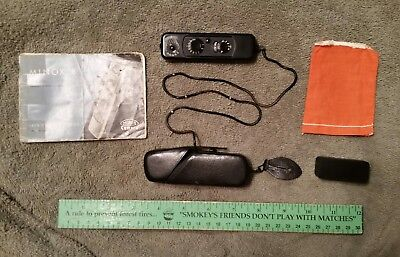 Vintage Rare Black Minox B Subminiature Spy Camera w/Manual-Case-Chain-Film Bag