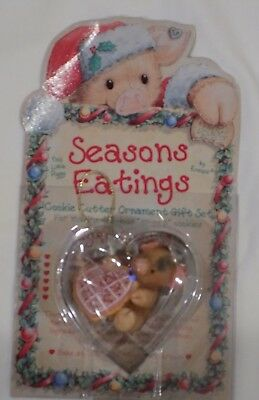 This Little Piggy Season's Eatings Cookie Cutter Ornament Enesco NIP