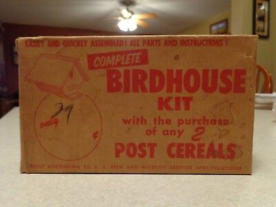 Post Cereal Birdhouse Kit