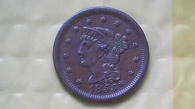 1855 Large Cent (Knob On The Ear)