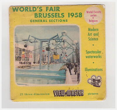 View Master   World's Fair Brussels 1958 General Sections  1992 A B C  Inglese
