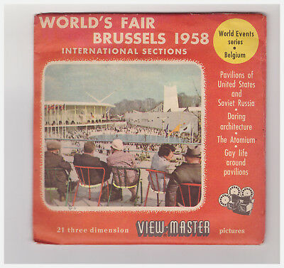 View Master World's Fair Brussels 1958 International Sections 1991 A B C Inglese