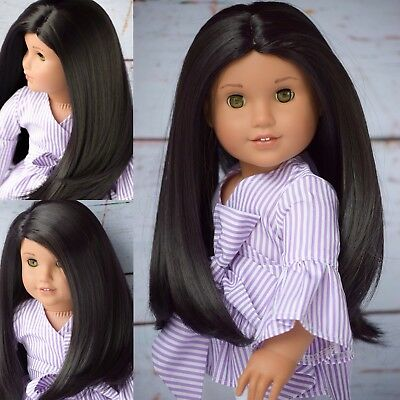 "11"" Size Custom Doll Wig Fits ALL 18"" Dolls American Girl Gotz Hannah My Life"