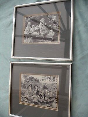 Cash's French Series - Two Neyret Freres Pictures Large Framed