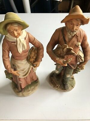 Homco Old Men and Women Lot of 6  matching set numbers