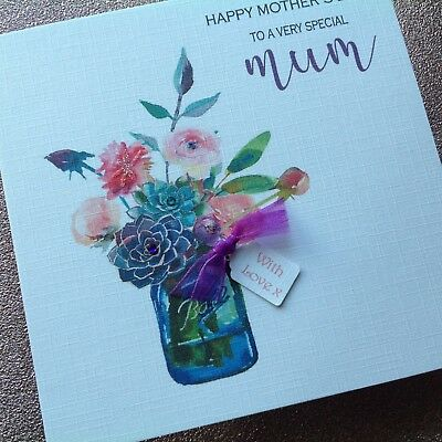 LARGE SPECIAL WIFE HAPPY BIRTHDAY CARD FLOWERS GLITTER GARDEN TRADITIONAL