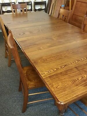 Antique Oak Dining Table Plus Chairs