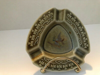 Wade Ireland Green Ashtray with Ducks in the center