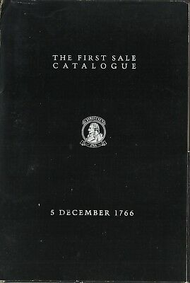 Christie's reproduction of the first Christie's Sale Catalogue of 5 Dec. 1766