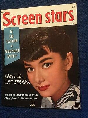 Audrey Hepburn Screen Stars Jan. 1957 WOW!