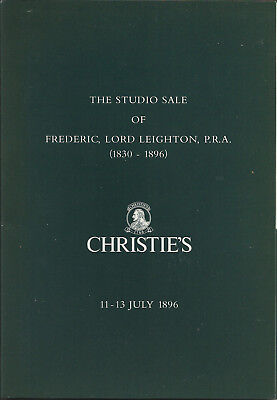 Christie's reproduction of The Studio Sale of FREDERICK LORD LEIGHTON, July 1896