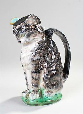 Rare & Sought After Minton Majolica Cat & Mouse Pitcher - Paul Comolera - 1871