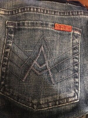 """7 FOR ALL MANKIND A Pea in the Pod Boot Cut """"A"""" Pocket Maternity Jeans Sz 29x28"""