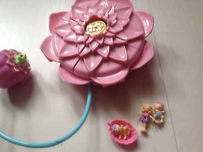 Vintage Polly Pocket Waterlily And Sprayer Inc Figures
