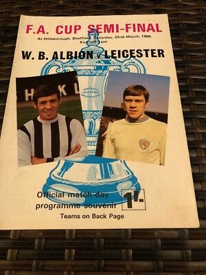 West Brom Albion V Leicester City FA Cup Semi Final 22nd Mar 1969