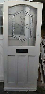 Art deco leaded light stained glass front door. 1920s/30s. R736a. DELIVERY!!!