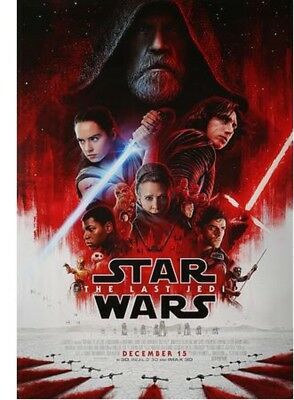 Star Wars THE LAST JEDI 27X40 Original FINAL Double Sided Movie Theater Poster