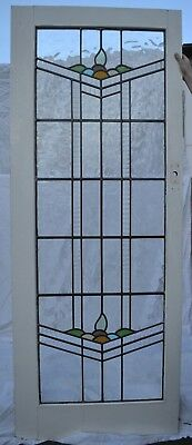 Internal British leaded light stained glass vestibule door. R724. DELIVERY!!!