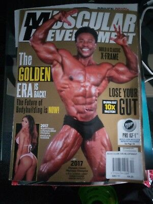 Muscular Development Magazine. December 2017. Breon Ansley Cover