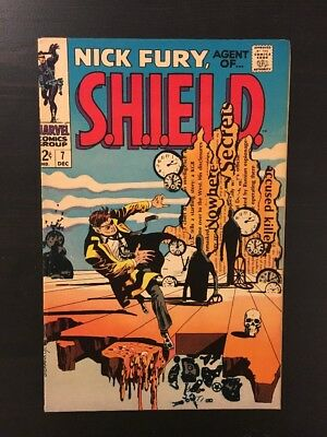 Nick Fury, Agent of SHIELD #7 (Dec 1968, Marvel) VF+ 8.5