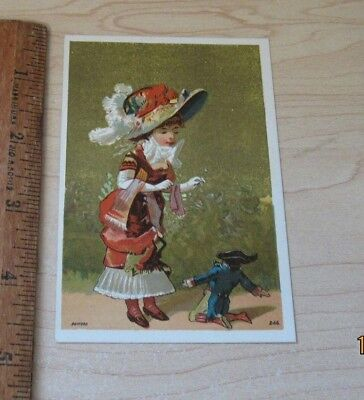 Antique Victorian Trade Card BANNER LYE PUREST SOAP