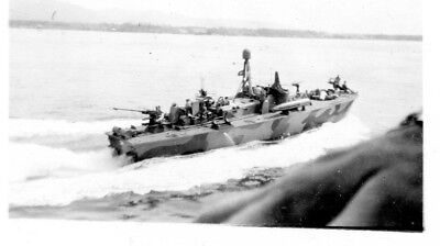 PT 318 WWII Vintage Photograph Elco 80 Foot Motor Torpedo boat