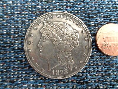 United States 1878 $1 Silver Plated Copper Coin Fantasy Issue!!!