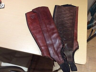 Pair Of Ariat Riding Half Chaps 100% Leather