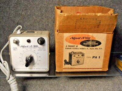 Adjust-A-Volt AC Variable Transformer Autoformer 0-130 VAC Type PA-1 1.25 Amp