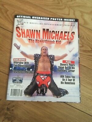 Wwf Wwe Magazine Shawn Michaels Special With 2 Sided Poster  Rare