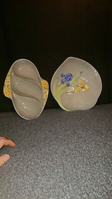 shorter and son serving dish and serving platter with 3 compartments 1920's 30's
