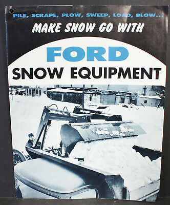 Vintage1960 Ford Motor Company 4 Page Snow Equipment Dealer Brochure Very Nice