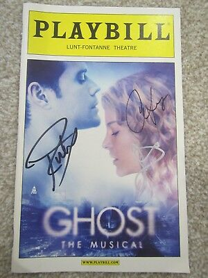 Richard Fleeshman & Caissie Levy SIGNED Ghost The Musical Broadway Playbill
