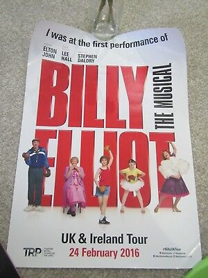 Billy Elliot The Musical UK Tour First Night Poster Theatre Royal Plymouth