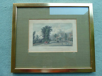 """Stahlstich W. Westall. A.R.A  """" Steels Cottage Haverstock Hill"""" / London England"""