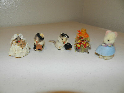 Vtg Little Mouse Factory Original Fur Toy Made in W Germany LOT OF 5 + EXTRA