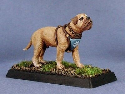 WARLORD REAPER figurine miniature jdr rpg chien dog guerre 14219 2 x WAR DOGS