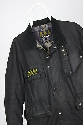 Mens BARBOUR International A577 Flyweight Wax jacket Waxed Hunting Coat