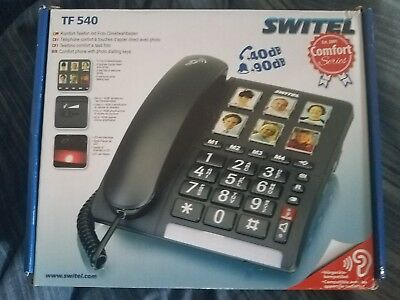 Switel TF540 Amplified Corded Phone With Photo Buttons