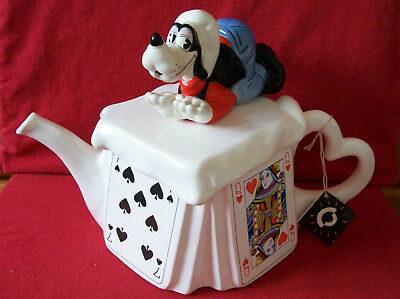Prototype Goofy Come Play Cards With Me Very Large Cardew/disney Teapot Good Con