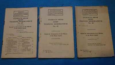 WW2 Home Guard Officer Information; Extracts Army memorandum 40/43/47