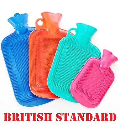 2 Litre Liter Hot Water Bottle Hotwater Natural Rubber Warmer Screw Top Quality