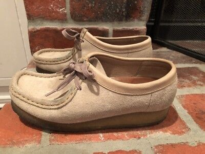 2008 Clarks Wallabee #35395 Sand Suede Crepe Sole Chukka Shoes Women's US 6.5