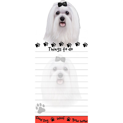 Maltese Magnetic Post It Dog Breed Stationery Notepad
