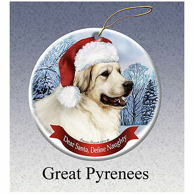 Great Pyrenees Howliday Porcelain China Dog Christmas Ornament